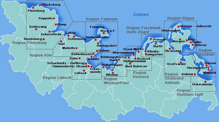 ostsee karte deutschland Ostsee Karte, Ostseekarte, Lagepaln, Routenplaner, Rügen, Usedom  ostsee karte deutschland